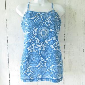 Lululemon Power Y Tank Beachy Blue Floral